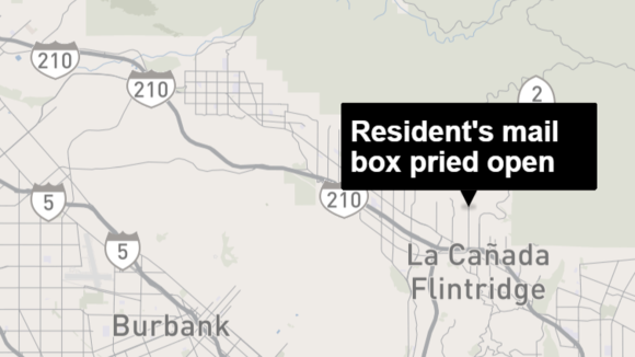 Resident's mail box pried open