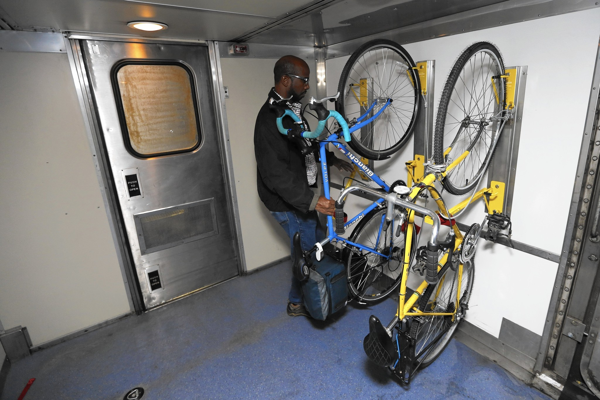 Racks By The Tracks >> Amtrak expands rails-to-trails service for cyclists - Chicago Tribune