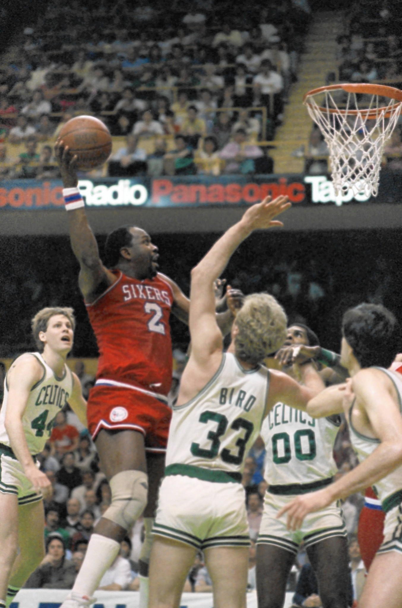 Moses Malone former NBA and Philadelphia 76ers great s at 60