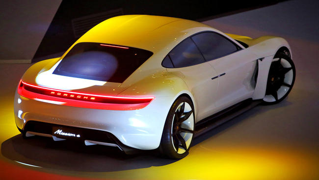 Porsche Unveils All Electric Tesla Fighting Sports Car La Times