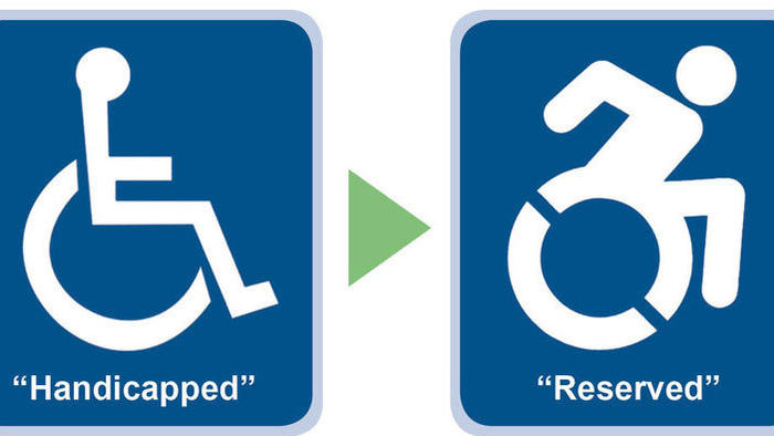 Handicap Sign Used since 1974 isn't Politically Correct ... Handicap Logo Redesign