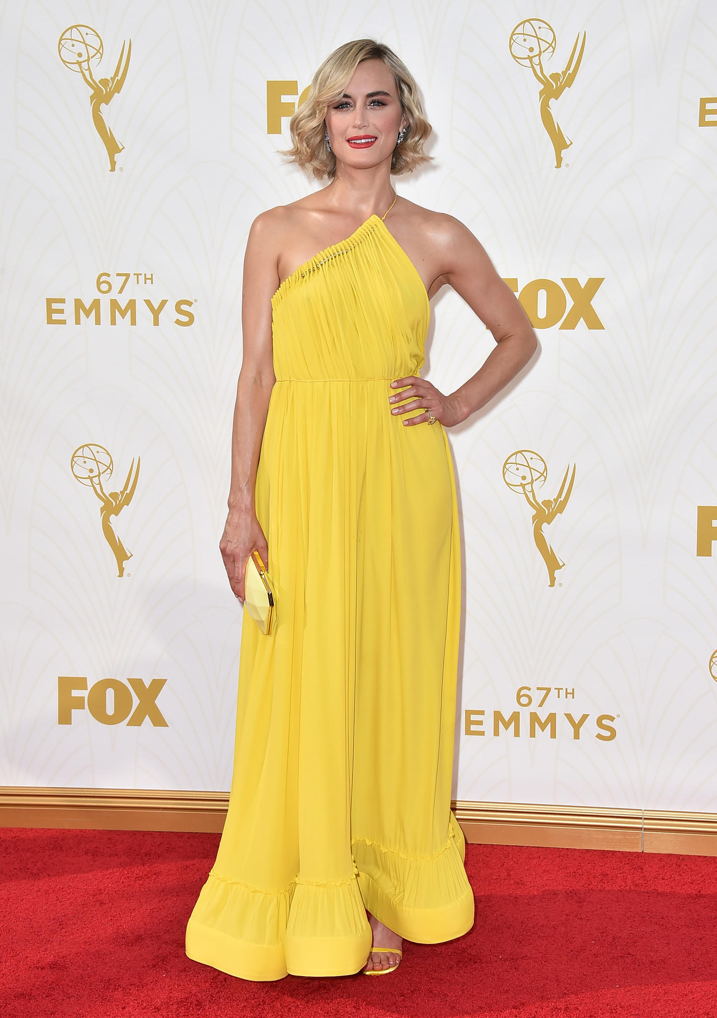 Taylor Schilling arrives at the 67th Primetime Emmy Awards (Jordan Strauss / Jordan Strauss/Invision/AP)