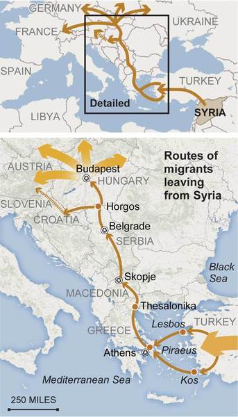 Fleeing syria a desperate migration los angeles times thousands of syrians and other migrants now in croatia plan to travel north to austria gumiabroncs Choice Image