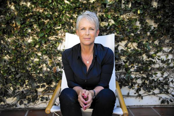 Jamie Lee Curtis at home, Aug. 13, 2015 (Jay L. Clendenin / Los Angeles Times)