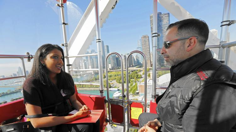 A job interview on the Ferris wheel? Um, OK :  Paul Marobella, CEO of Havas Chicago Group