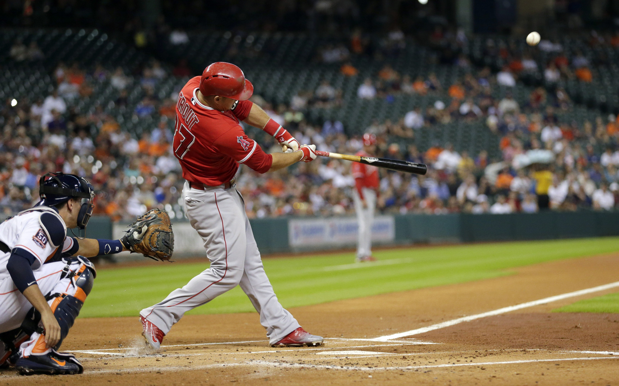 Mike Trout Hitting A Homerun Mike Trout hits 40th h...