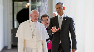 Pope Francis in other words -- delivered by his British interpreter