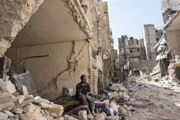 Aleppo, Syria (Karam al-Masri / AFP/Getty Images)