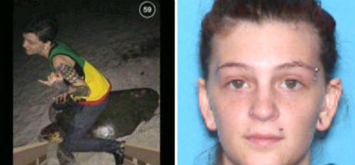 Woman jailed, accused of riding sea turtle