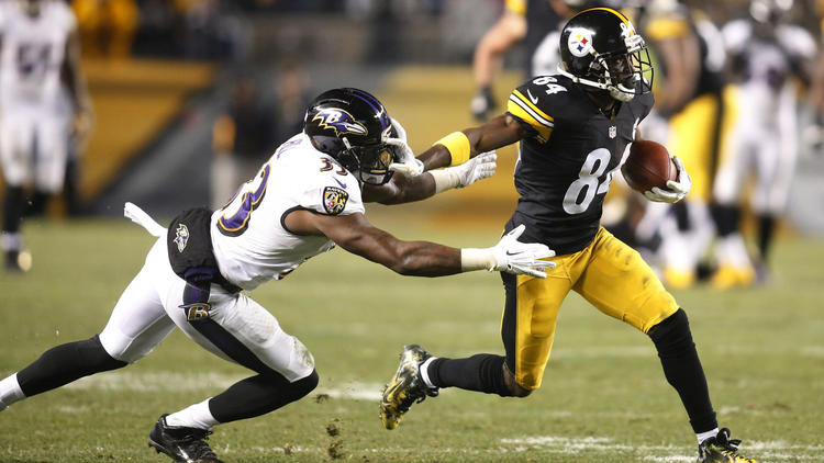 antonio brown, will hill, heinz field, steelers vs. ravens