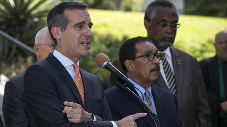 Eric Garcetti, Herb Wesson, Curren Price
