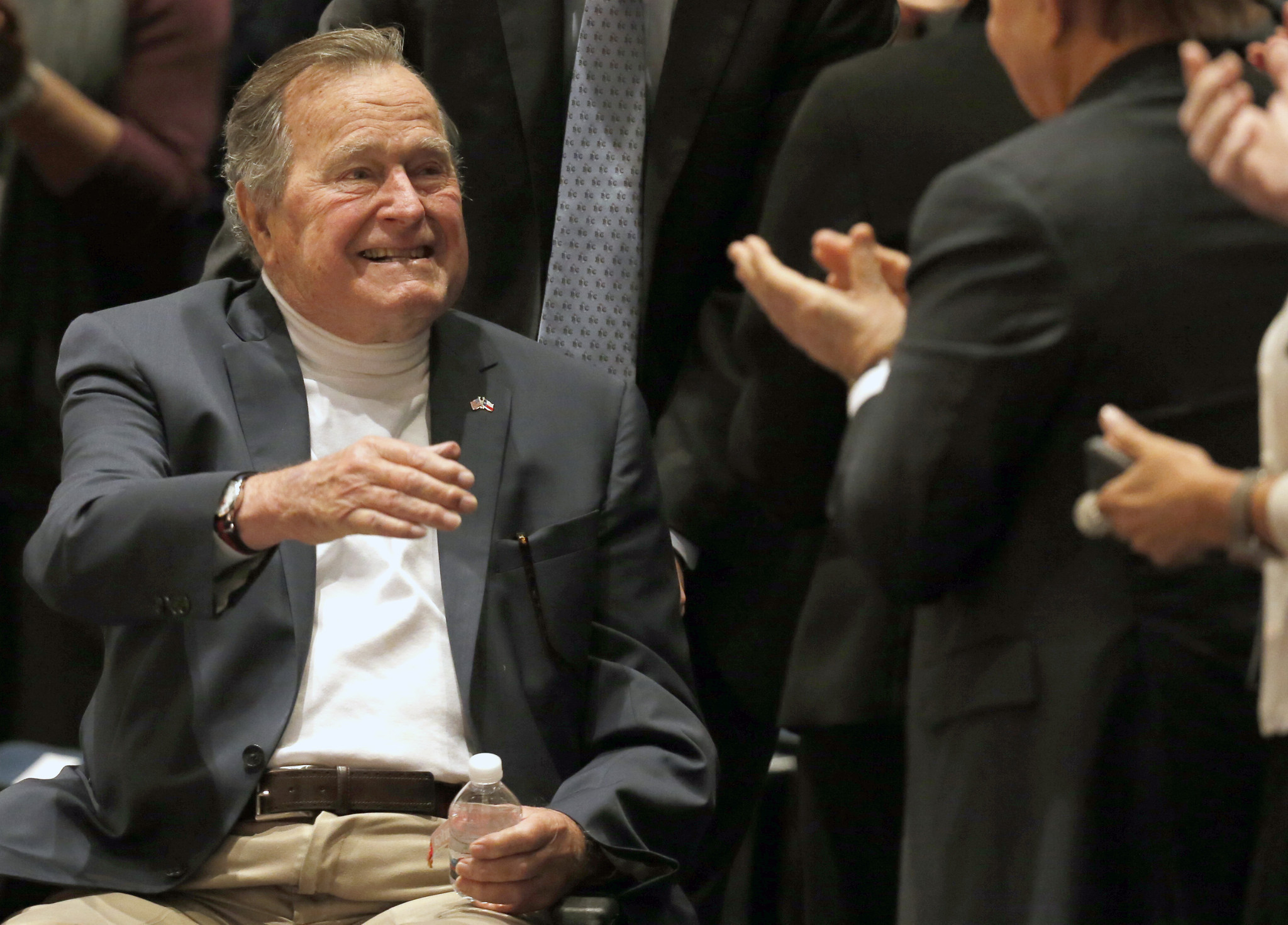 First President Bush Healing Nicely After Fractured Vertebra Over
