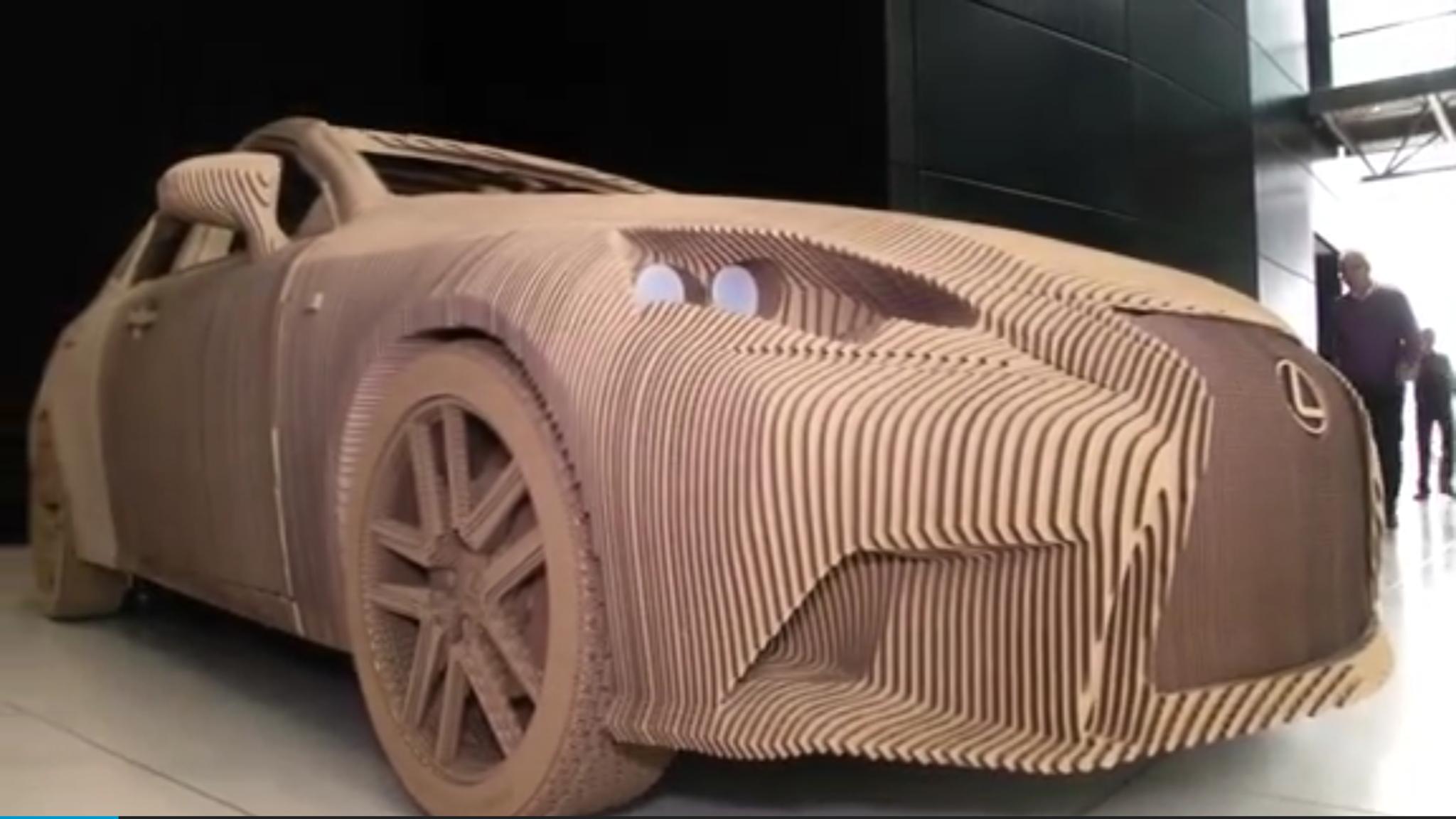 Lexus Builds Origami Inspired Cardboard Car