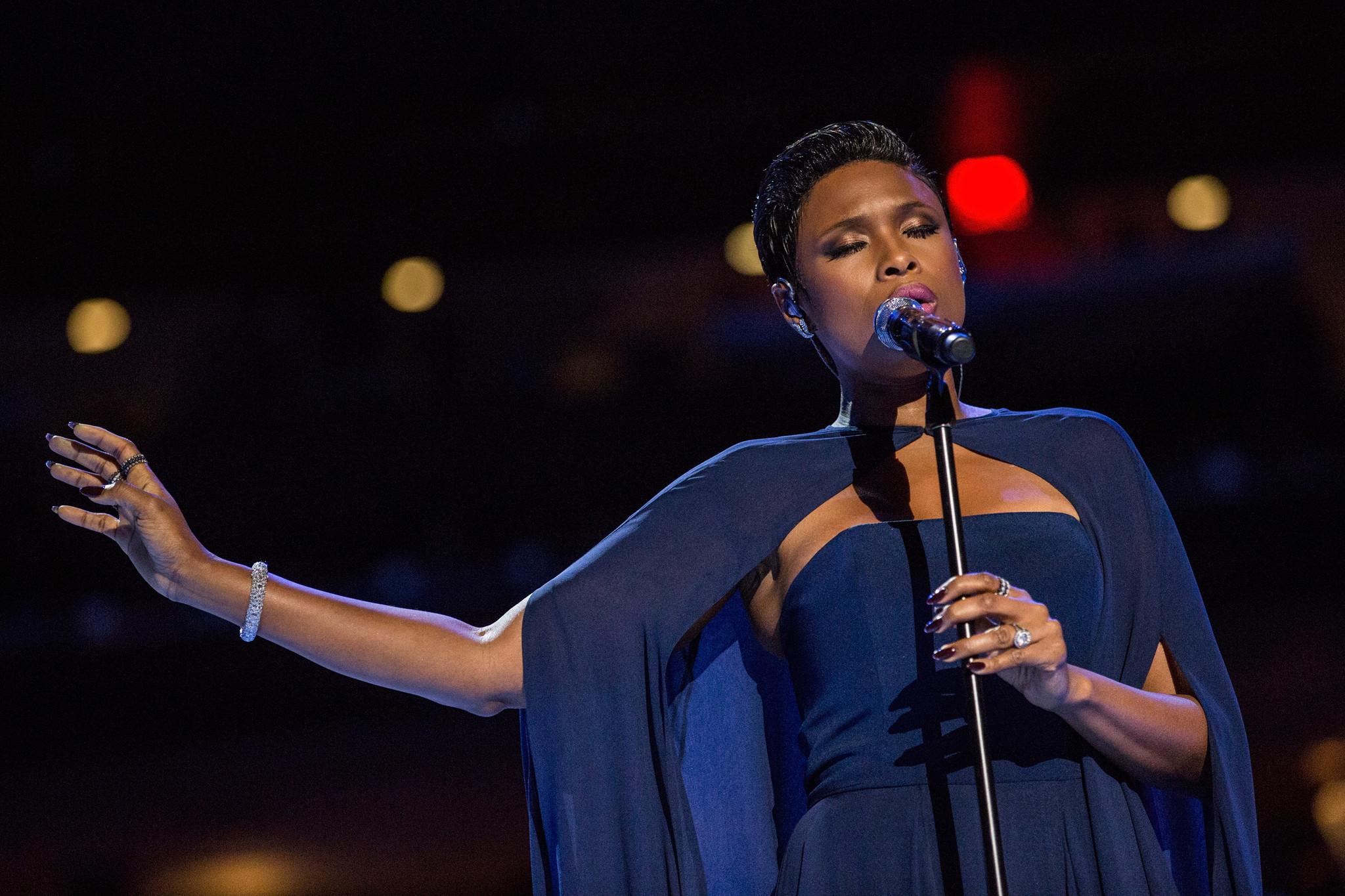 Jennifer Hudson sings at Brooklyn charter schools rally