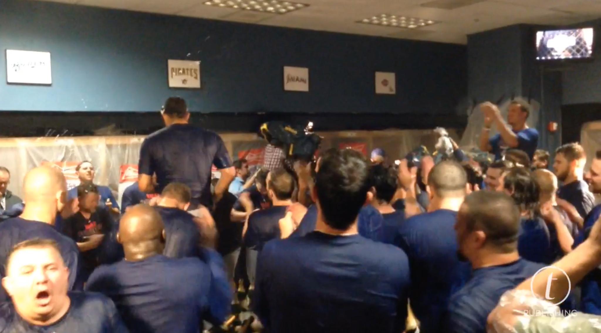 Cubs Locker Room Celebration