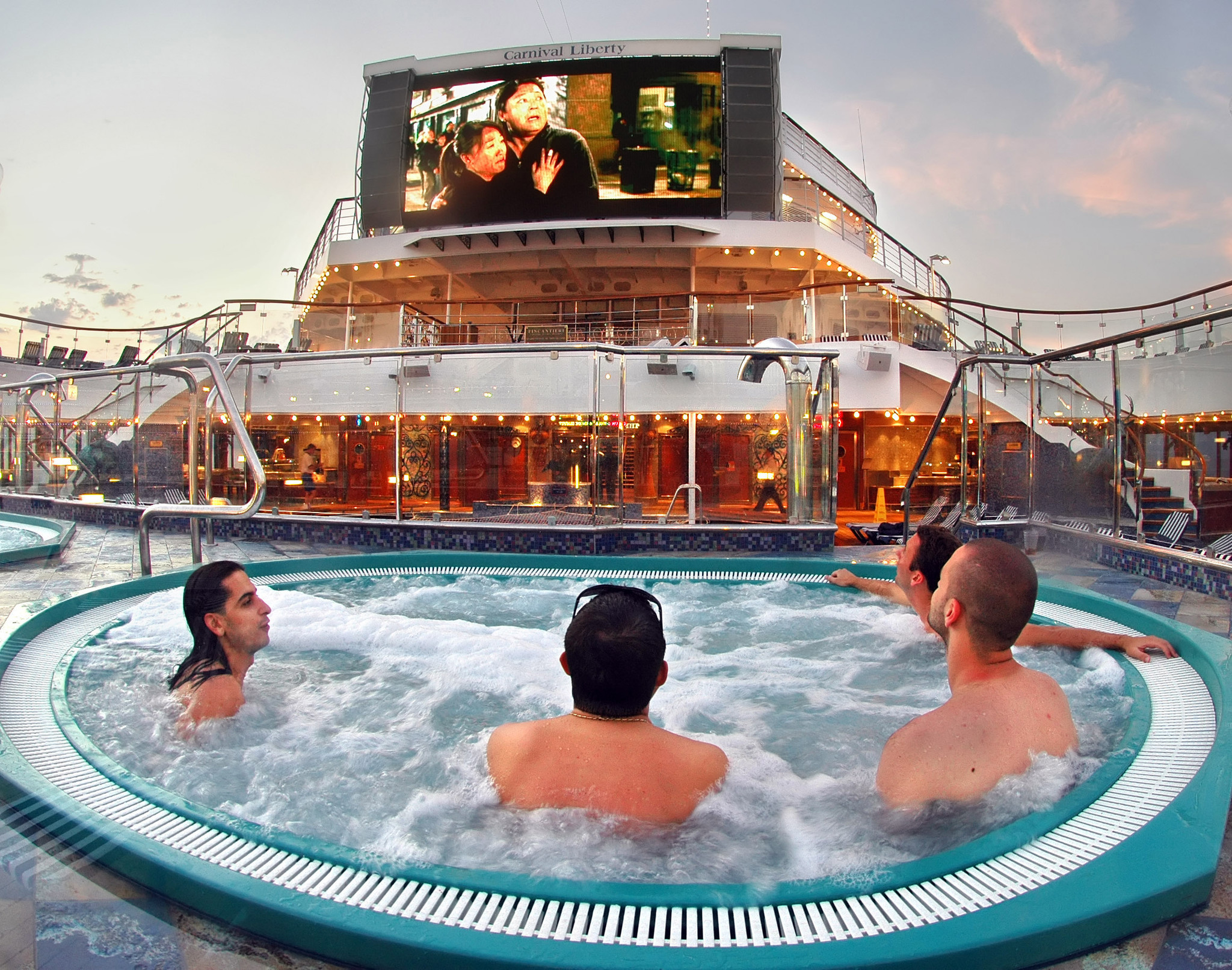 Cruise ship orgasm hot tub