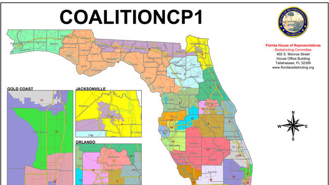 Floridas Congressional District Map Is Done Let The State - Map of the state of florida