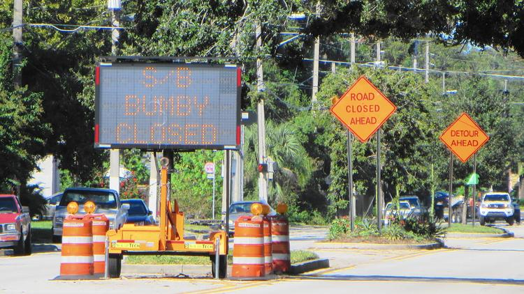 Bumby Ave. closed