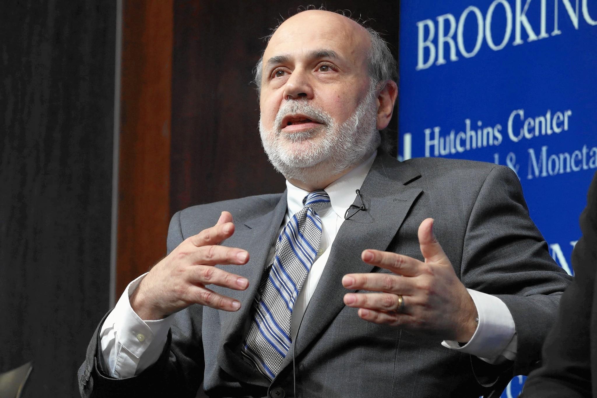 Bernanke: U.S. should have prosecuted individuals after collapse