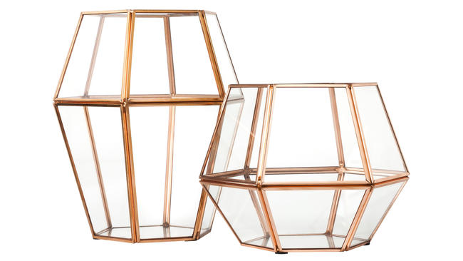 rose gold home accessories