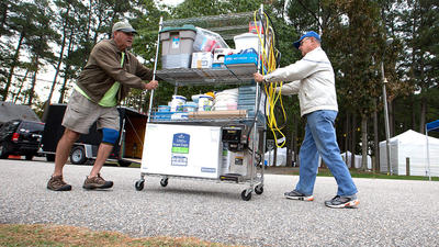 Pictures: Poquoson Seafood Festival Set Up