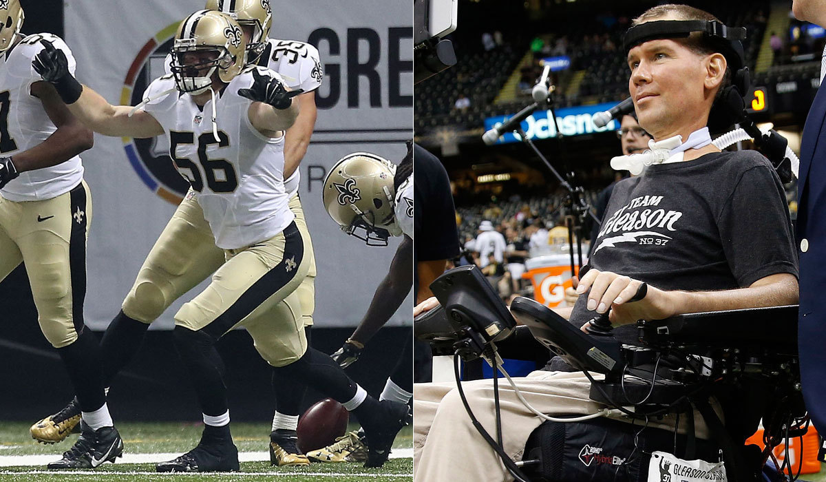 Saints' Steve Gleason and Michael Mauti were there for ...