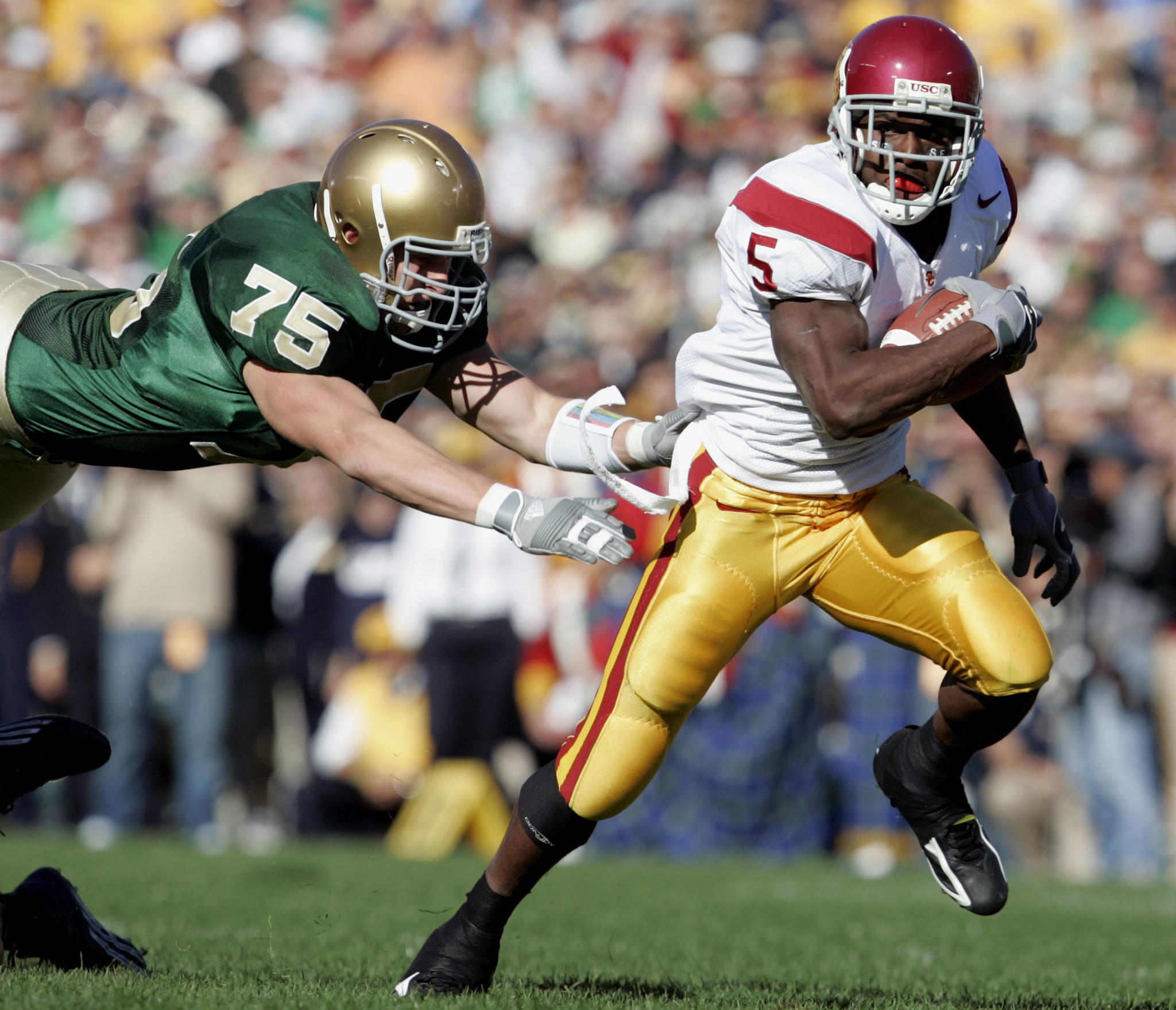 Relive the famed 'Bush Push' game with the USC and Notre ...