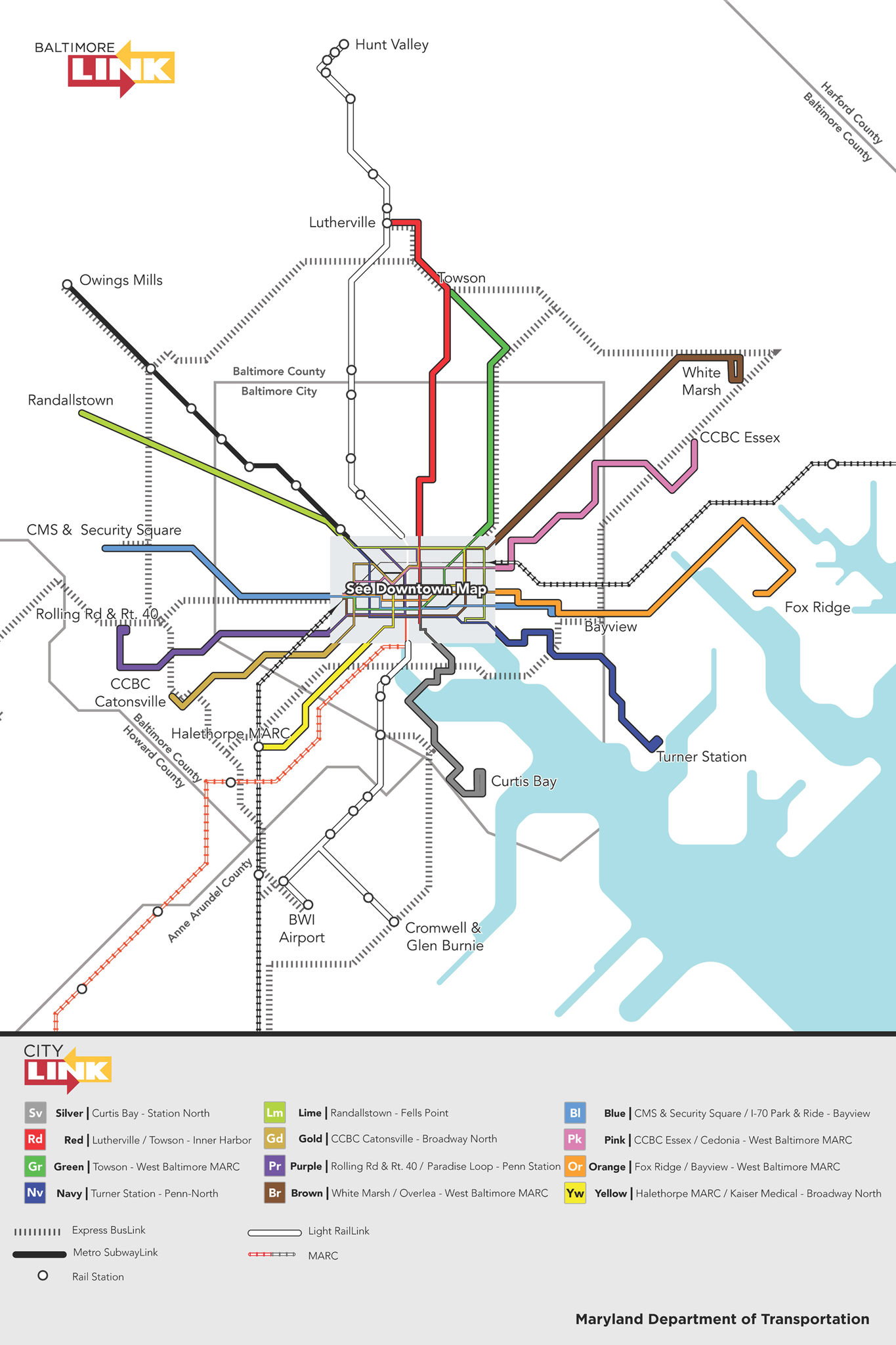 CityLink System Map - Baltimore Sun on