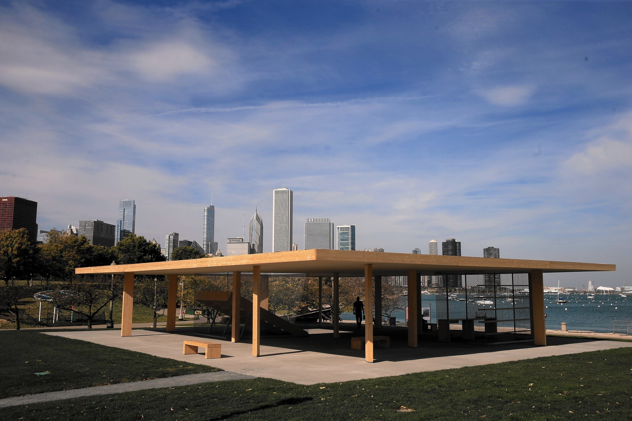 Chicago Architecture Biennial pavilions bring stylish shelter to the lakefront