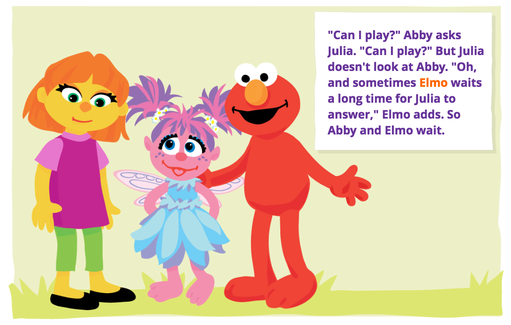 What Muppet With Autism Means To My >> Not In Love With Julia Erin Human