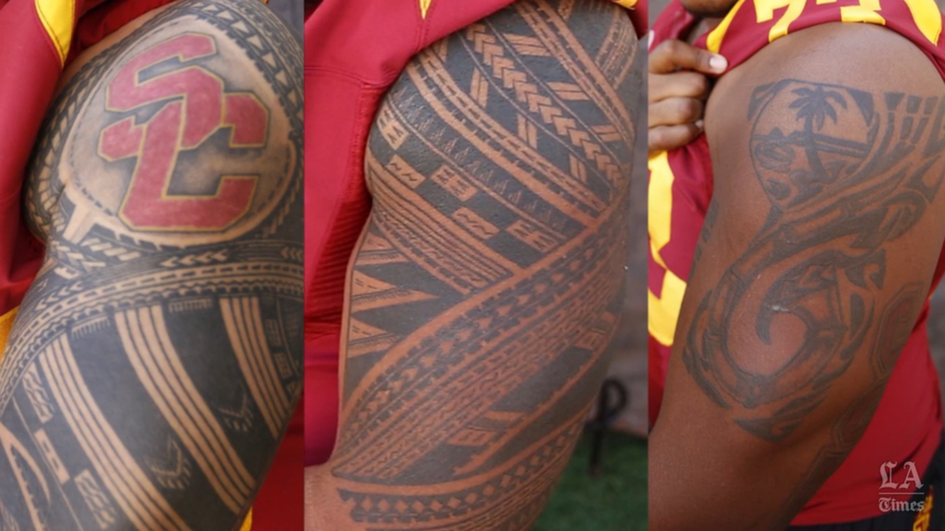 USC tattoos: Trojan linemen are armed with pride - LA Times