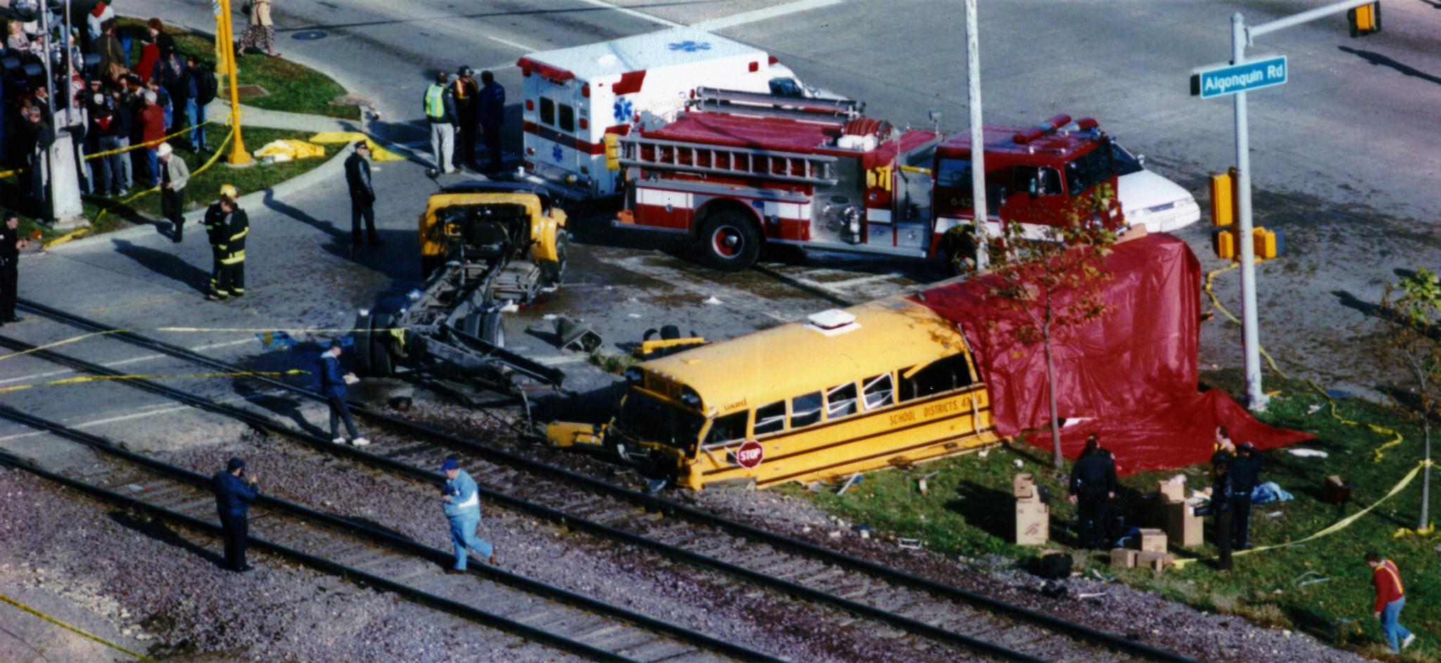 20th anniversary of fatal bus-train crash - Chicago Tribune