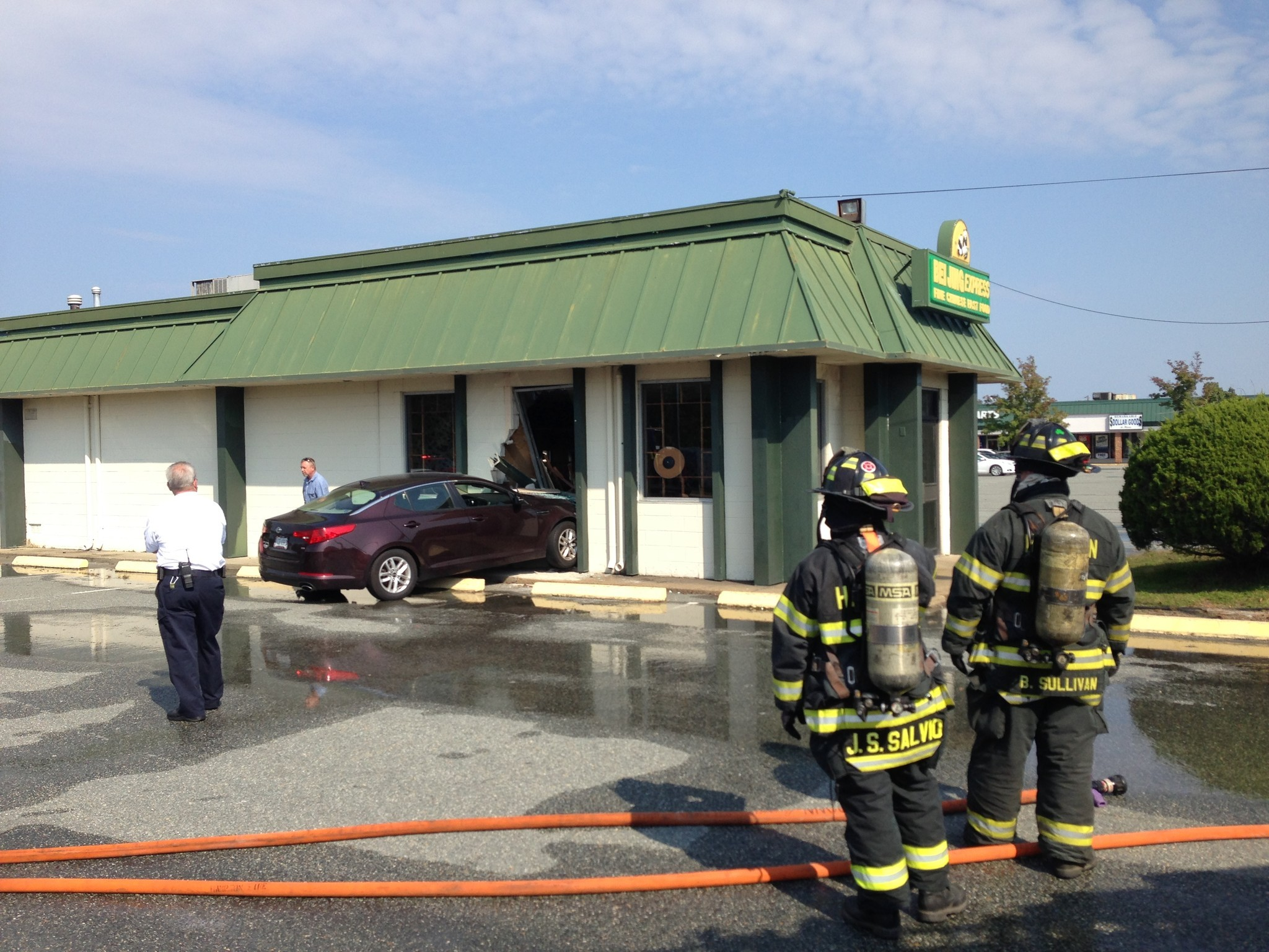 Car Crashes Into Building Today