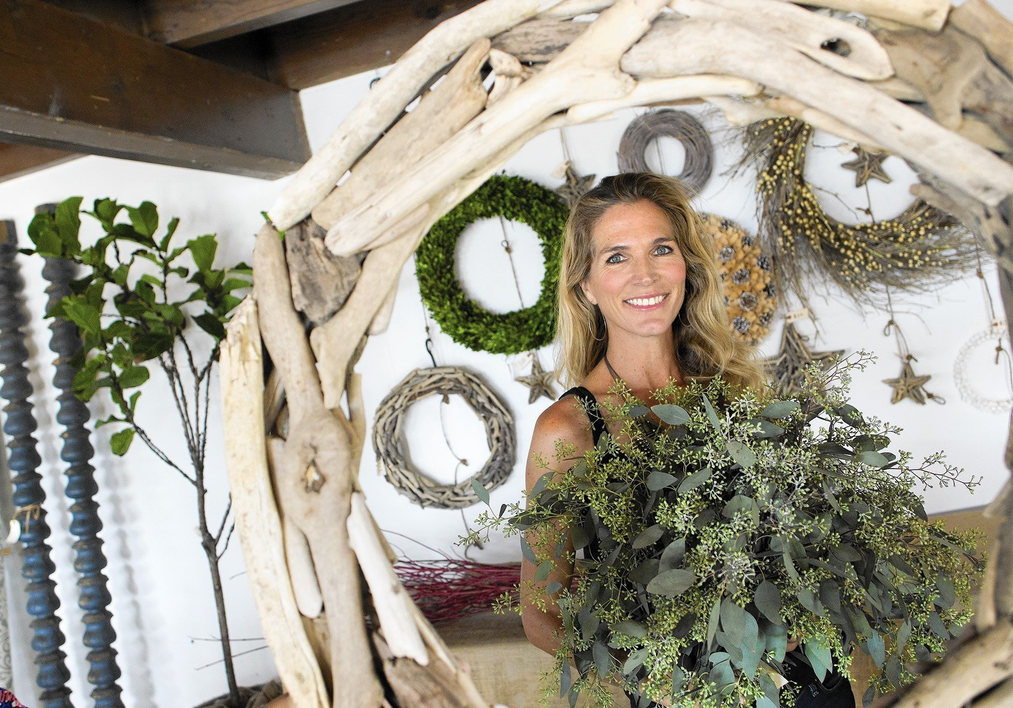 modern organic style featured at holiday pop up shop weekend