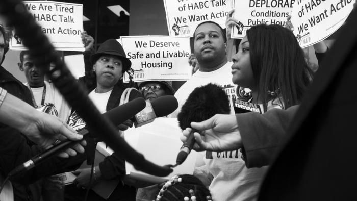 Public housing protest