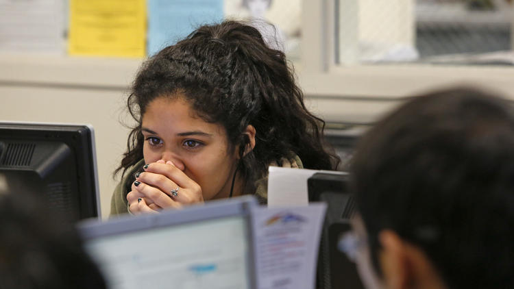 School testing in Los Angeles