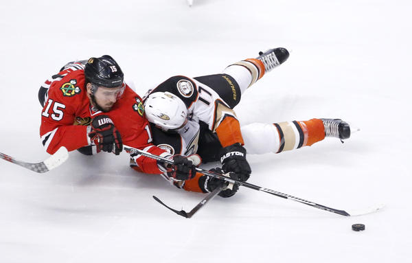 Ducks Are Sunk By Jonathan Toews' Goal In Overtime