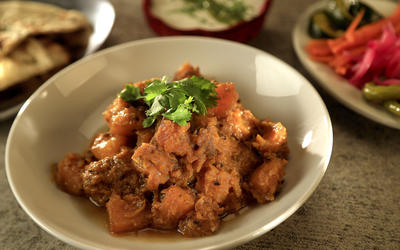 Badmaash's Punjabi spiced pumpkin