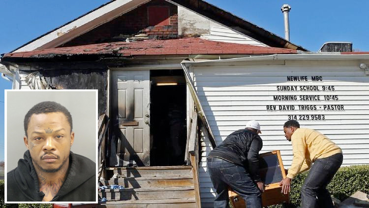 Man charged in St. Louis area black church fires