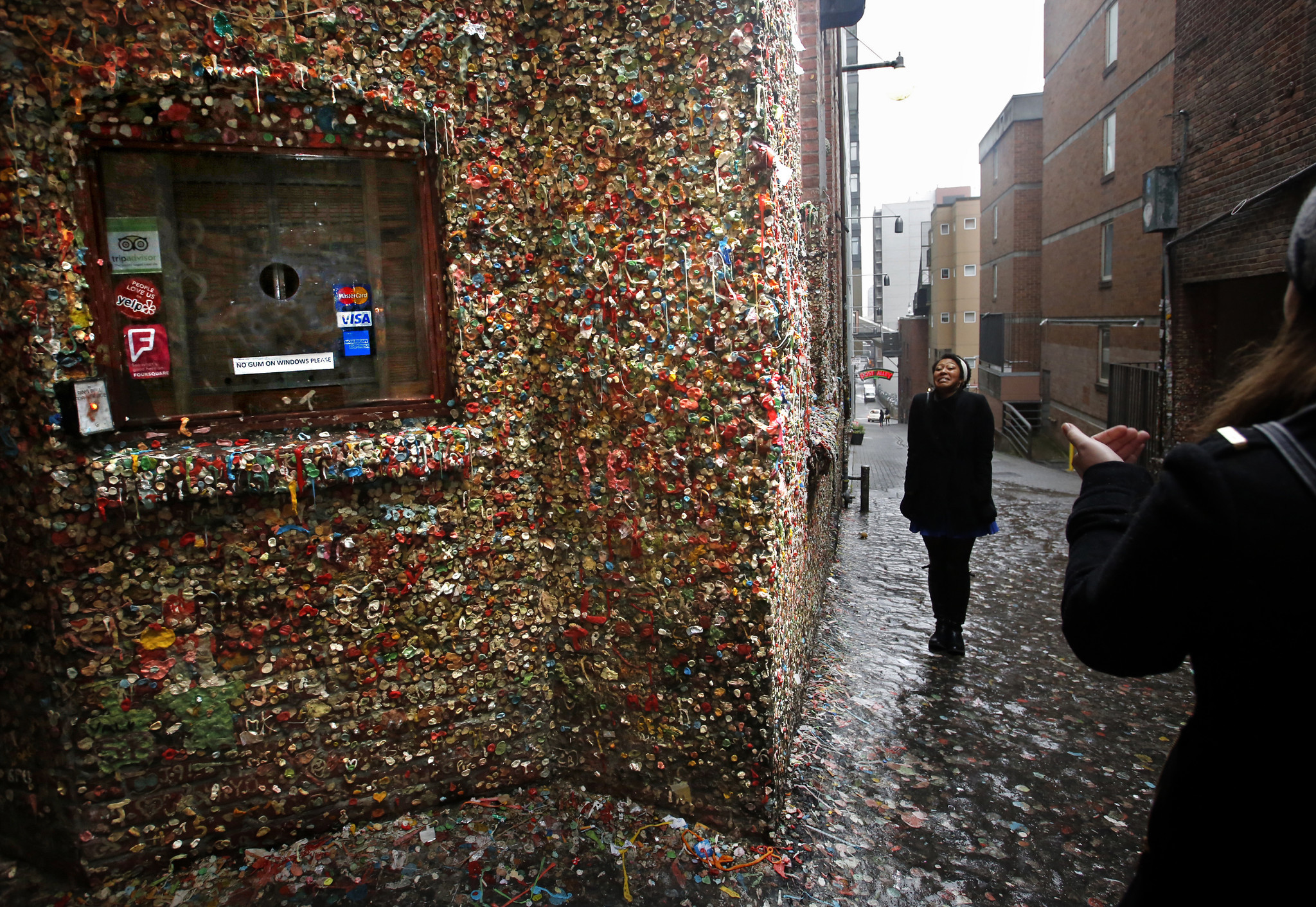 how to get gum off wall