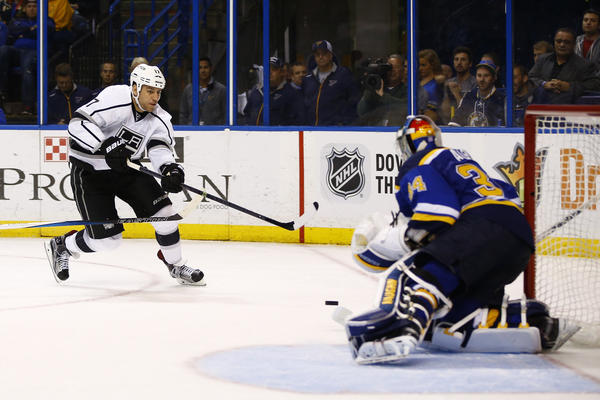 Kings Beat Blues, 3-0, After Anze Kopitar Leaves Because Of Blow To The Face