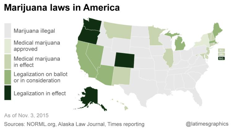 American pot laws