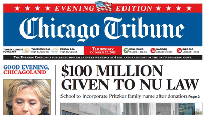 Since the Chicago Tribune's inception in , its intrepid newshounds have collected 27 Pulitzer Prizes in categories from investigative reporting to editorial cartooning. More than million readers pore over its classic broadsheet edition daily, making it the most widely read paper in the Chicagoland area%().