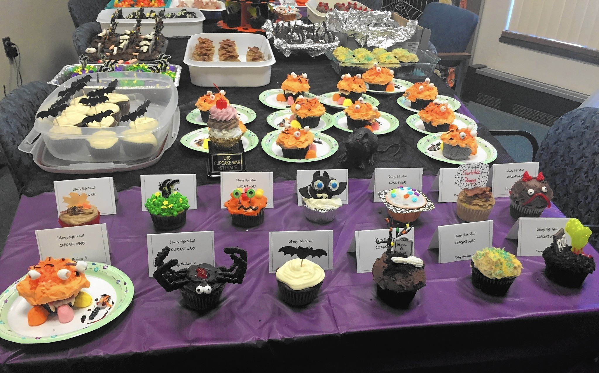 liberty high school holds halloween cupcake wars carroll county times
