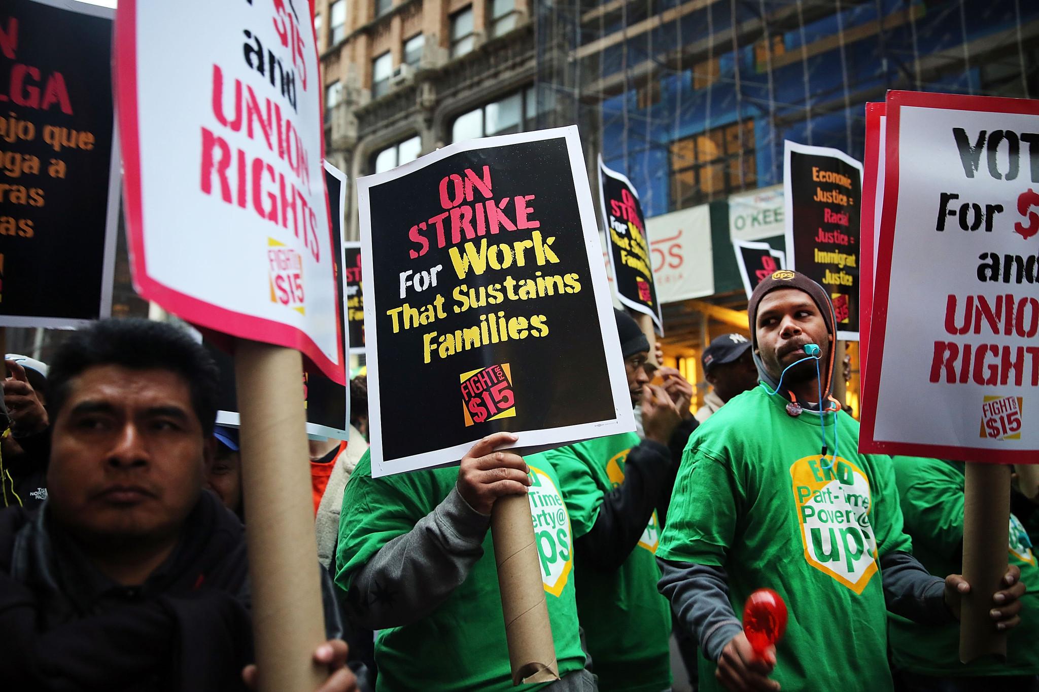 Minimum Wage Strike Fast Food Industry