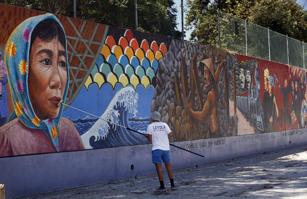 judy bacas murals Sites of public memory: murals and other sacred sites in los angeles whose monument where judy baca's highland park mural in process of restoration.