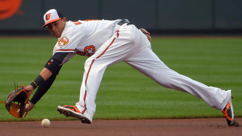 <p>Orioles third baseman Manny Machado won his first Gold Glove award in 2013, beating out the Tampa Bay Rays' Evan Longoria and the Texas Rangers' Adrian Beltre. He won again in 2015, edging the same players.</p>
