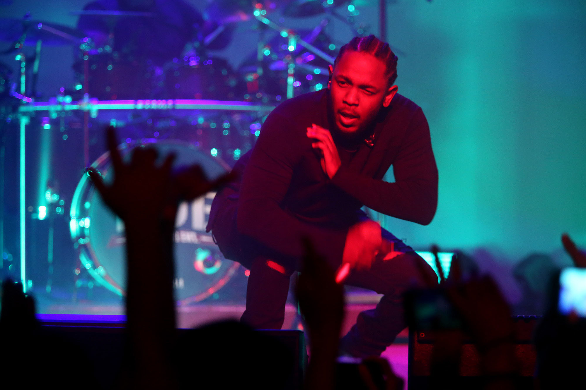"Kendrick Lamar's ""Damn"" reigns on the total album consumption chart in 2017. (Genaro Molina / Los Angeles Times)"