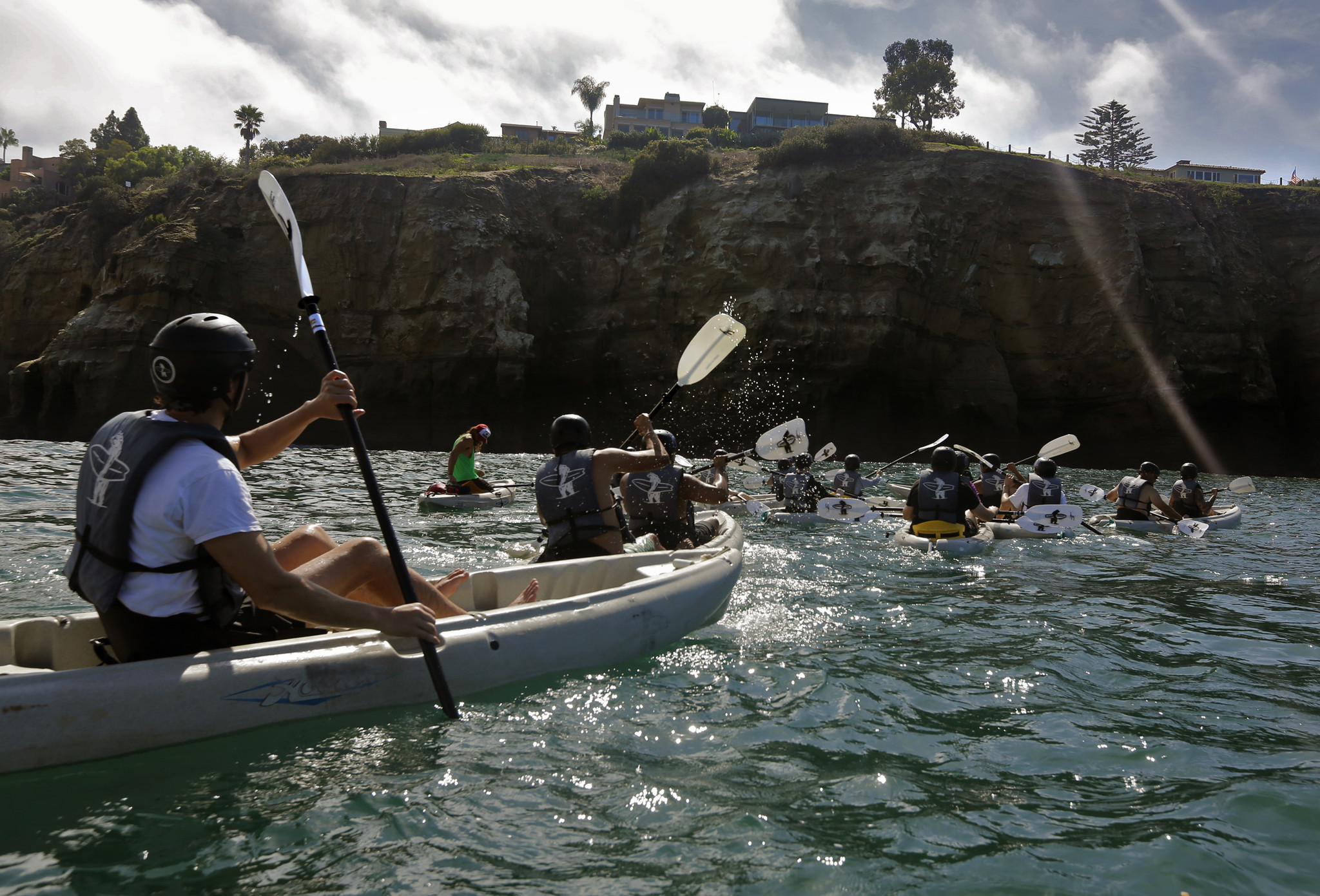 Want to hang with La Jolla's rock stars? Kayak to them.