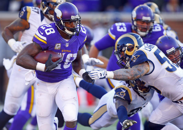 nfc notes adrian peterson has rushed for more than 100 yards in fo. Black Bedroom Furniture Sets. Home Design Ideas